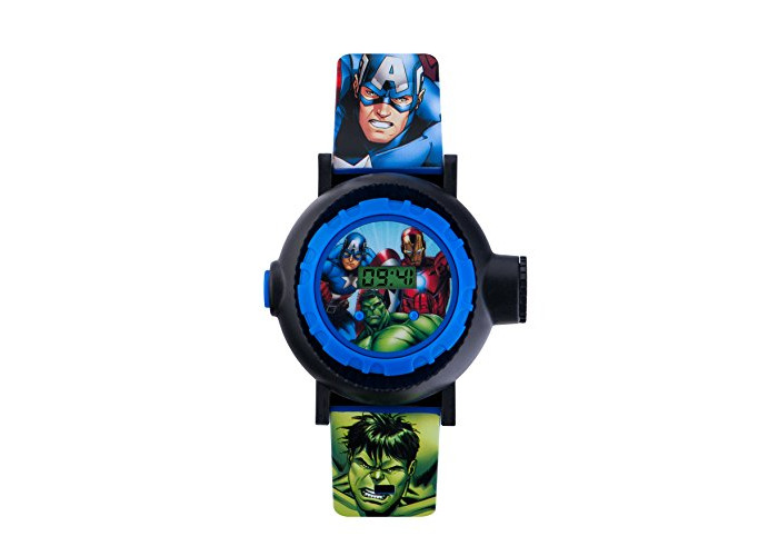 Avengers Children's Digital Watch with Multicolour Dial Digital Display and Blue PU Strap AVG3536 - 1