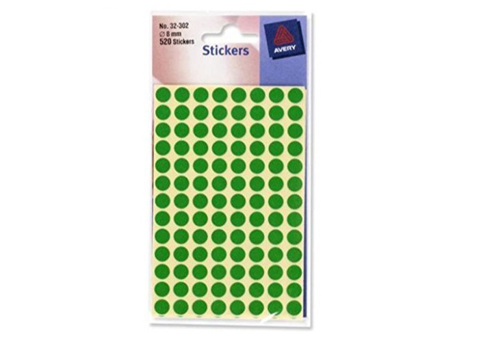 Avery 32-302 Green 8Mm Dots - 2