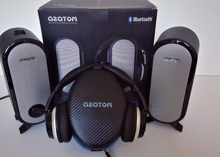 Azatom Bluetooth Headphones & Docking Speaker System - 1
