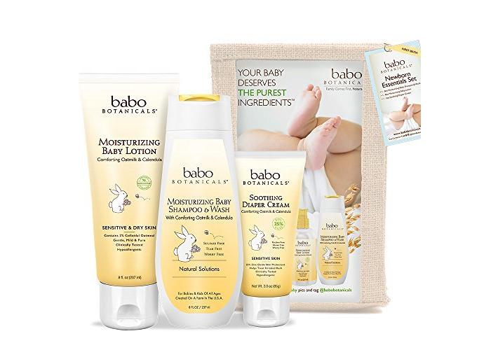 Babo Botanicals Newborn Essential 3 Piece Set - Best Baby Gift, Best For Baby Registry, Best Baby Shower Gift - 1