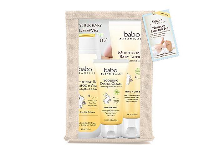 Babo Botanicals Newborn Essential 3 Piece Set - Best Baby Gift, Best For Baby Registry, Best Baby Shower Gift - 2