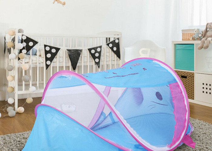 Baby and Toddler Portable Tent Dog Style in Blue Colour - 2