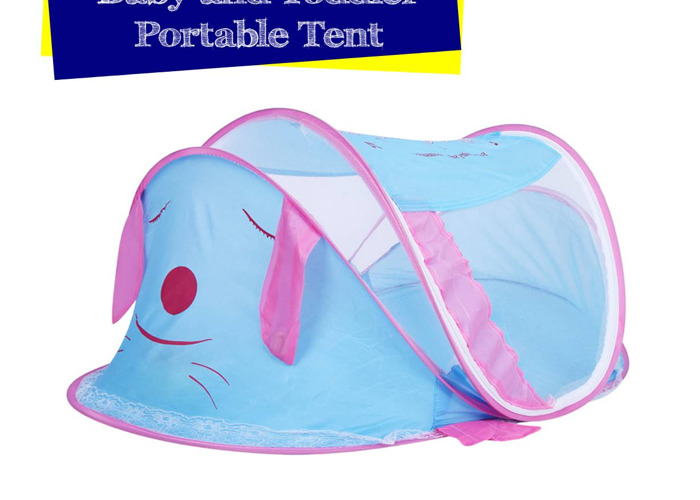 Baby and Toddler Portable Tent Dog Style in Blue Colour - 1