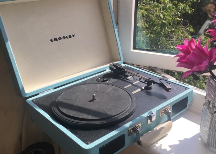 Baby blue Crosley Cruiser Record Player - 1