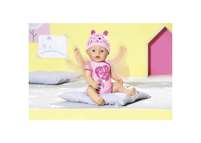 Baby Born 824368 Soft Touch-Girl with Blue Eyes Interactive Function Doll, 43cm - 2
