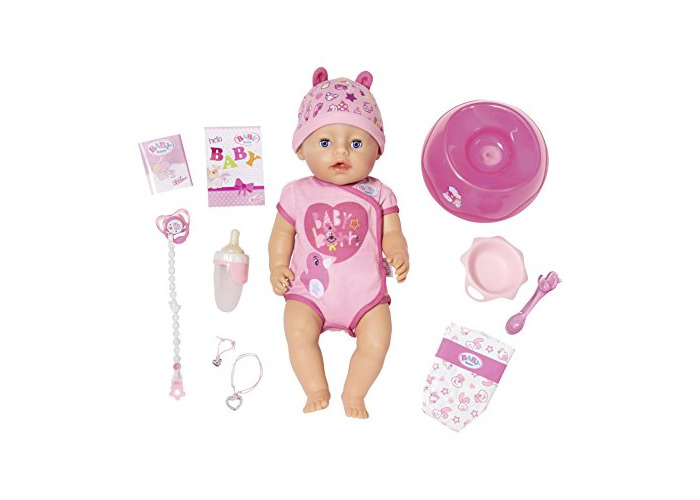 Baby Born 824368 Soft Touch-Girl with Blue Eyes Interactive Function Doll, 43cm - 1
