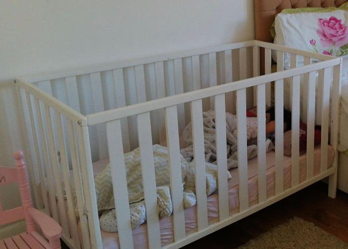 Baby Cot and Mattress  - 1