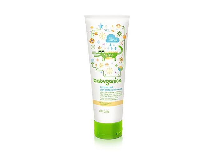 BabyGanics - Moisturizing Eczema Care Skin Protectant Cream Fragrance Free - 8 oz. Value Size - 1