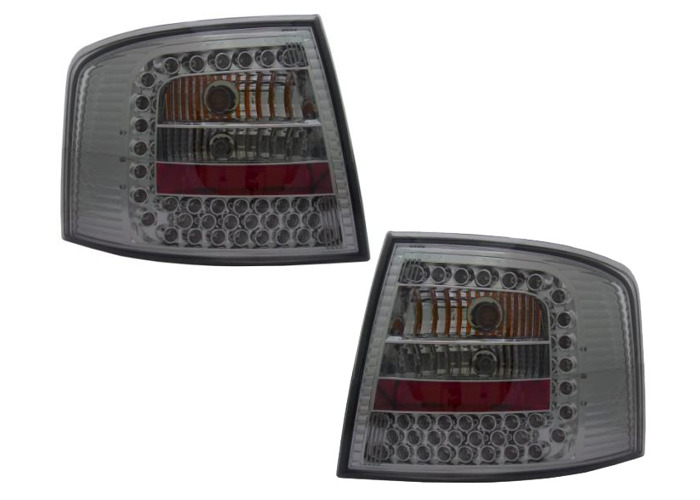 Back Rear Tail Lights Black Smoked LED Pair For Audi A6 Avant C5 4B 3/98-2/04 - 1