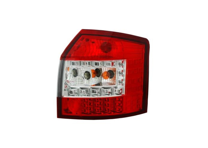 Back Rear Tail Lights For Audi A4 B6 Avant 09/01-10/04 With LED In Red-Clear - 1