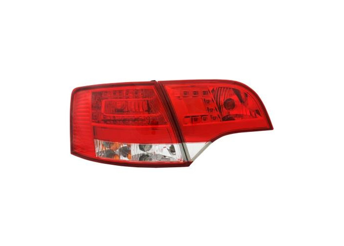 Back Rear Tail Lights For Audi A4 B7 Avant 11/04-03/08 With LED In Red-Clear - 1