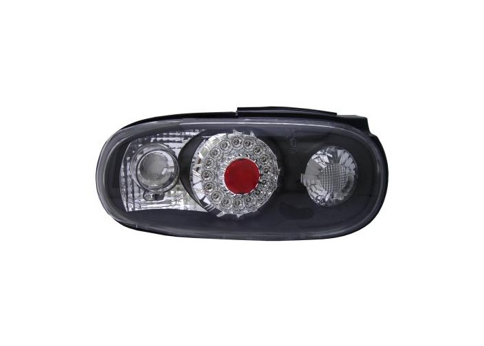 Back Rear Tail Lights For Mazda Mx5 Na -3/98 LED-Ring Clear Black Pair LHD - 1