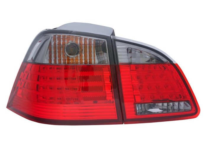 Back Rear Tail Lights Lamp Indicator Red-Black LED For BMW E61 Touring 04-07 - 1