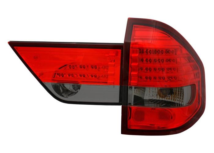 Back Rear Tail Lights Lamp Indicator Set LED Red-Black For BMW X3 03-06 - 1