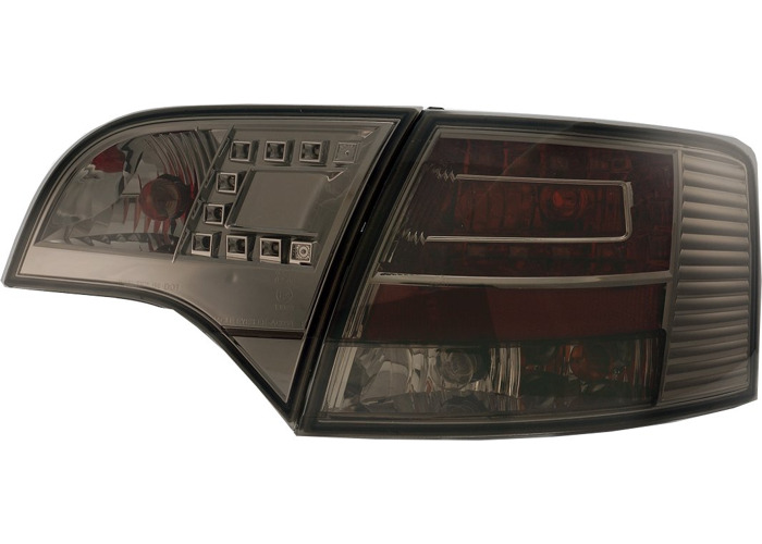 Back Rear Tail Lights Lamps LED Smoke For Audi A4 B7 Avant 11/04-03/08 - 1