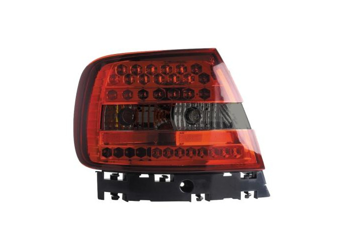 Back Rear Tail Lights Lamps Red-Black LED Pair For Audi A4 B5 11/94-9/00 - 2