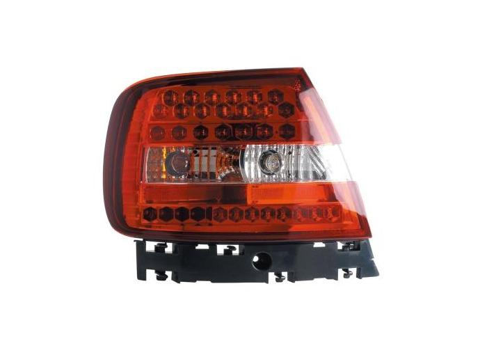 Back Rear Tail Lights Lamps Red-Clear LED Pair For Audi A4 B5 11/94-9/00 - 1
