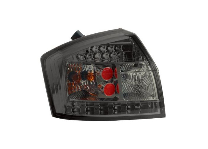 Back Rear Tail Lights Lamps Smoke LED Only Saloon Pair For Audi A4 8E 00-04 - 1