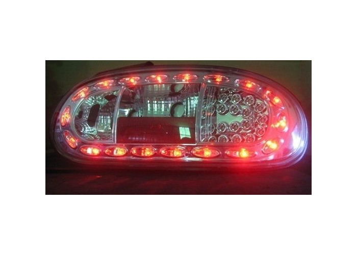 Back Rear Tail Lights LED Clear Chrome Pair For Mazda Mx5 Nb 98-05 - On - 2