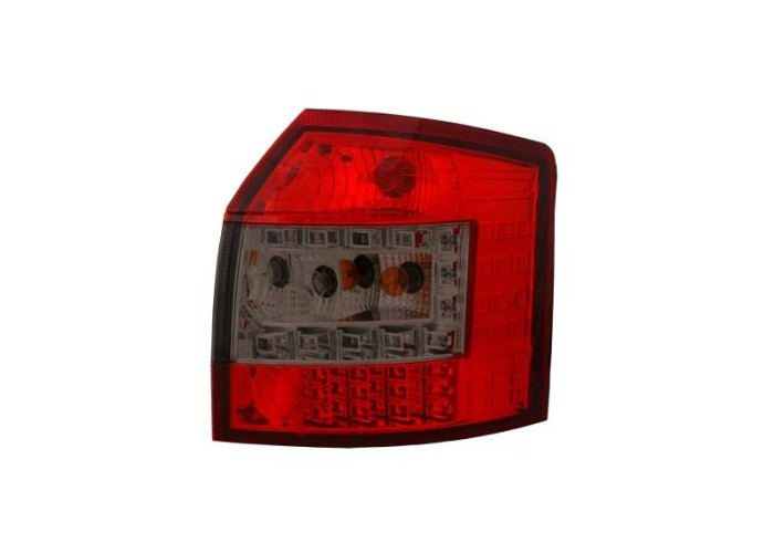 Back Rear Tail Lights LED In Red-Black For Audi A4 B6 Avant 09/01-10/04 - 1