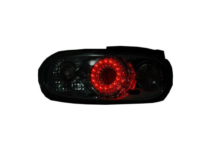 Back Rear Tail Lights LED-Ring Clear Chrome Pair For Mazda Mx5 Na -3/98 - On - 2
