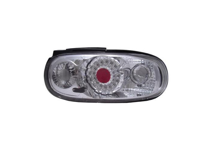 Back Rear Tail Lights LED-Ring Clear Chrome Pair For Mazda Mx5 Na -3/98 - On - 1