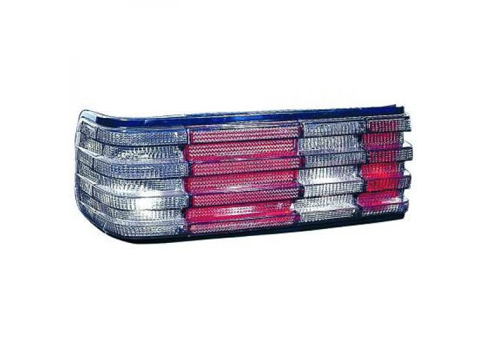 Back Rear Tail Lights Pair Set Black For Mercedes-Benz 280-500 W126 80-91 - 2