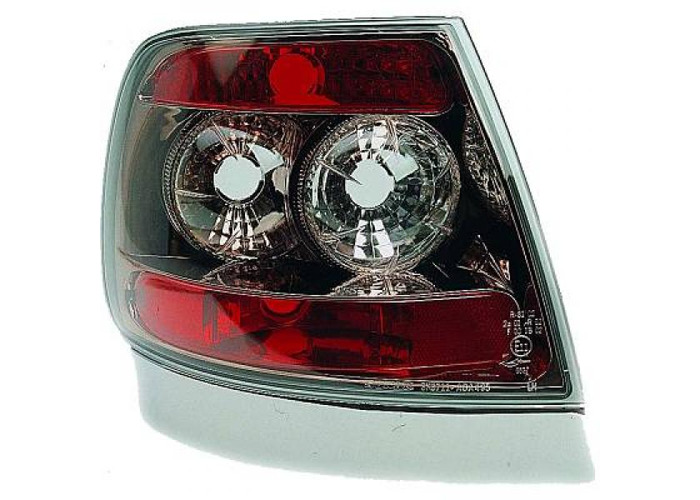 Back Rear Tail Lights Pair Set Clear Black For Audi A4 Saloon Avant 94-98 - 2