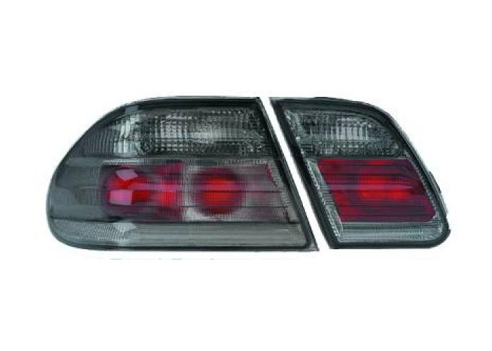 Back Rear Tail Lights Pair Set Clear Black For Mercedes E Class W210 95-02 - 2