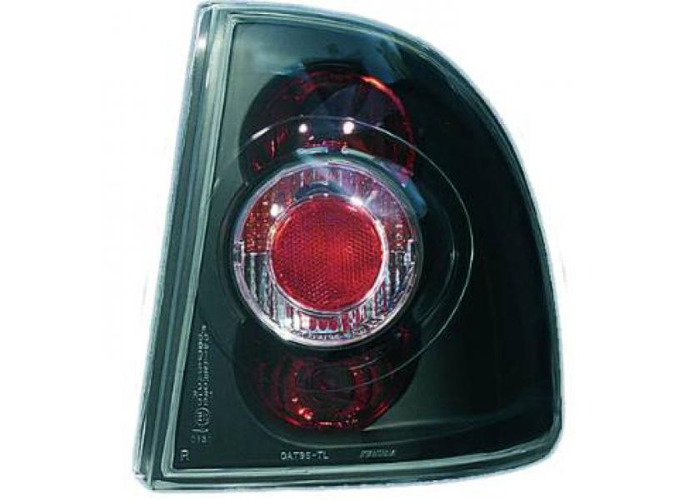 Back Rear Tail Lights Pair Set Clear Black For Vauxhall Astra F 4 Door 91-97 - 2