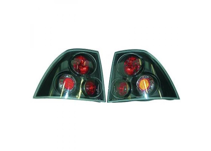 Back Rear Tail Lights Pair Set Clear Black For Vauxhall Vectra B 95-98 - 1