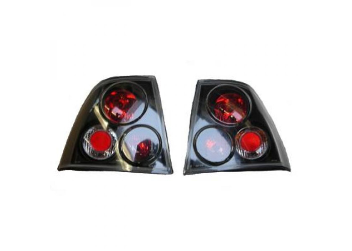 Back Rear Tail Lights Pair Set Clear Black For Vauxhall Vectra B Saloon 99-02 - 1