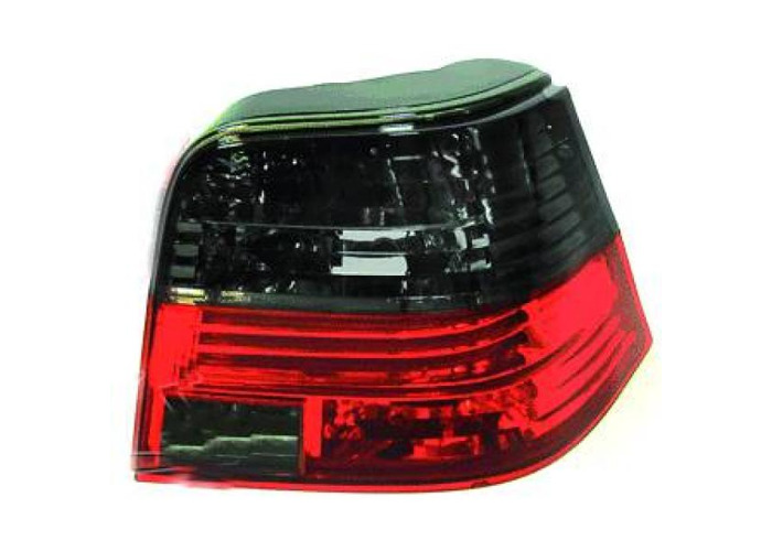 Back Rear Tail Lights Pair Set Clear Red Black For VW Golf IV 97-03 - 1