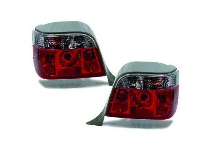 Back Rear Tail Lights Pair Set Clear Red White For BMW E36 Touring 90-99 - 1