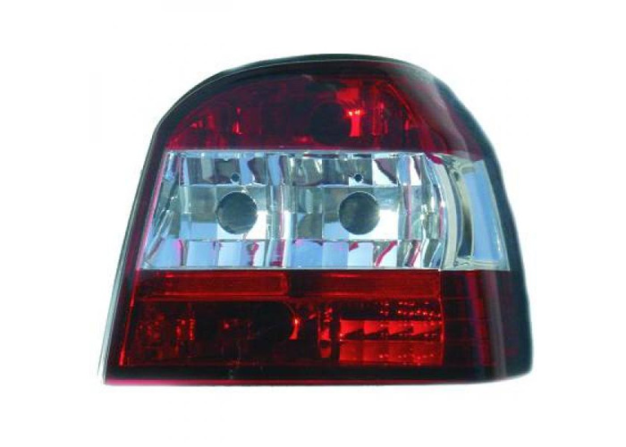 Back Rear Tail Lights Pair Set Clear Red White For VW Golf III 91-97 - 1