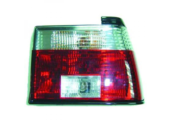 Back Rear Tail Lights Pair Set Clear Red White For VW Jetta Typ19 84-91 - 2