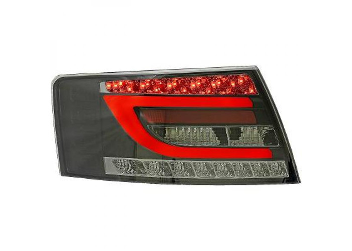 Back Rear Tail Lights Pair Set Clear Smoke Black For Audi A6 04-08 - 1