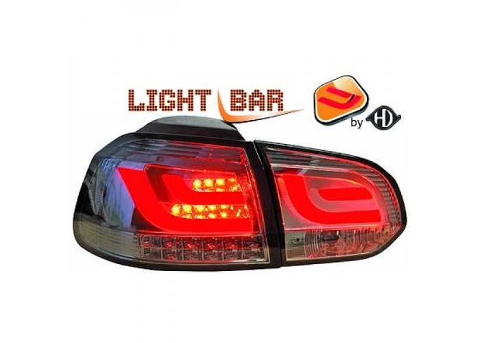 Back Rear Tail Lights Pair Set Clear Smoke For VW Golf VI Saloon 08-12 - 1