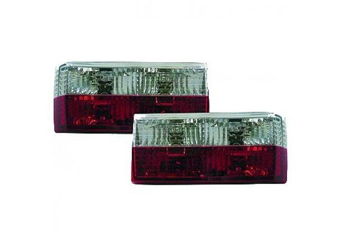 Back Rear Tail Lights Pair Set Crystal Red Chrome For VW Golf I 17 155 74-93 - 1