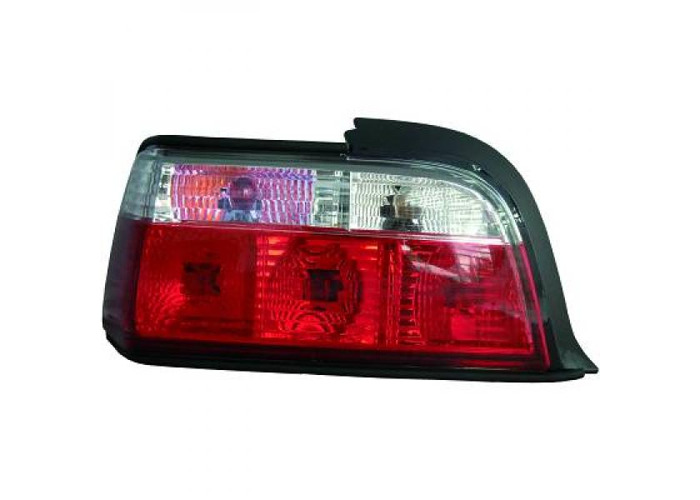 Back Rear Tail Lights Pair Set Crystal Red White For BMW E36 90-99 coupe cabrio - 2