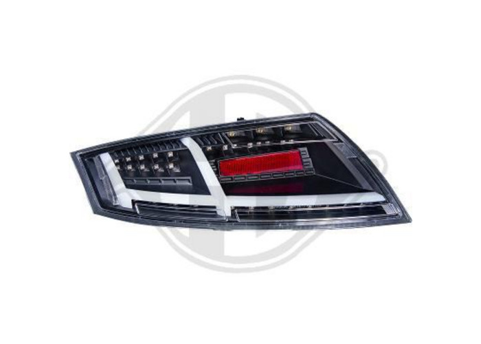 Back Rear Tail Lights Pair Set LED Black For Audi TT Coupe Cabrio 06-On - 1