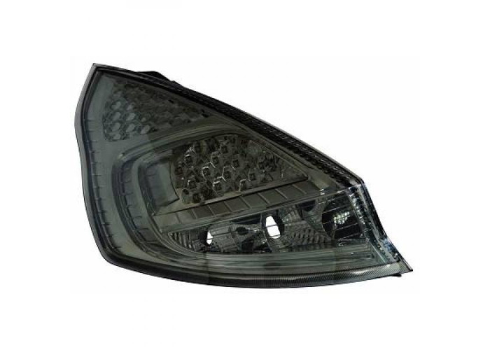 Back Rear Tail Lights Pair Set LED Clear Black For Ford Fiesta 08-12 - 1