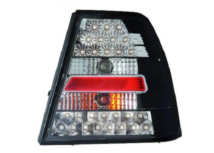 Back Rear Tail Lights Pair Set LED Clear Black For VW Bora 98-05 - 1