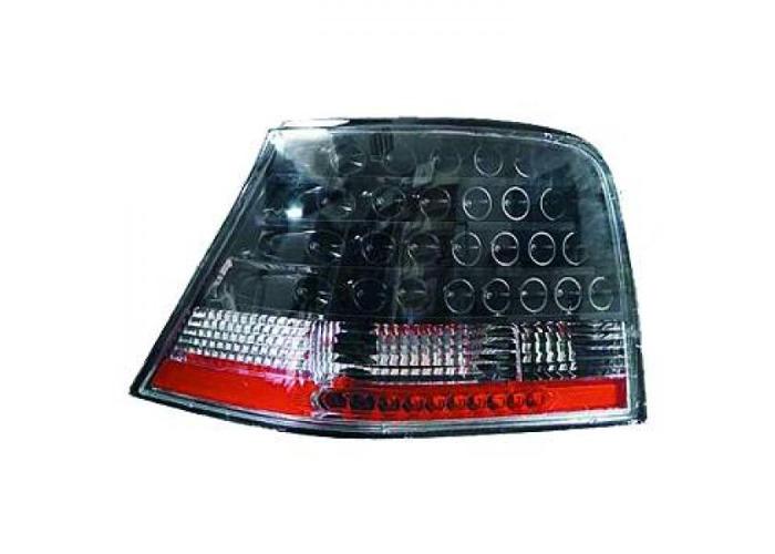 Back Rear Tail Lights Pair Set LED Clear Black For VW Golf IV 3 5 Door 97-03 - 1