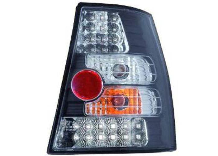 Back Rear Tail Lights Pair Set LED Clear Black For VW Golf IV 97-03 estate - 1