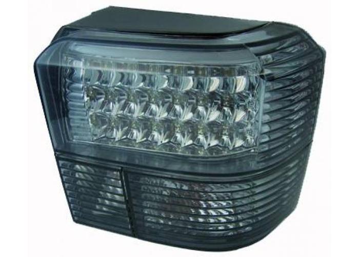 Back Rear Tail Lights Pair Set LED Clear Black For VW T4 Caravelle 96-03 - 1