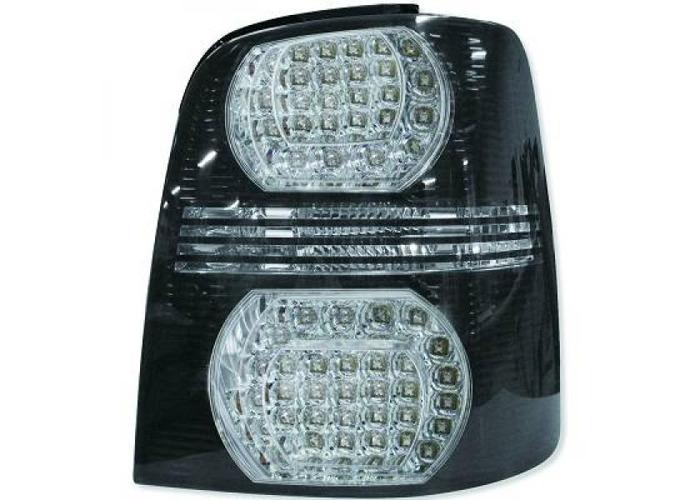 Back Rear Tail Lights Pair Set LED Clear Black For VW Touran 03-06 - 2