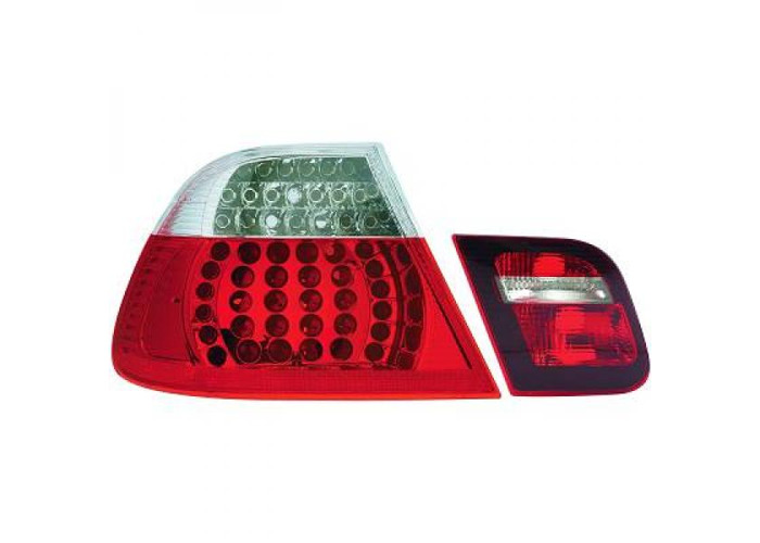 Back Rear Tail Lights Pair Set LED Clear For BMW 3 Series E46 Saloon 98-01 - 2