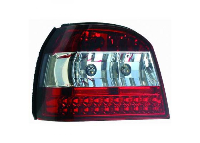 Back Rear Tail Lights Pair Set LED Clear For VW Golf III 91-97 - 1