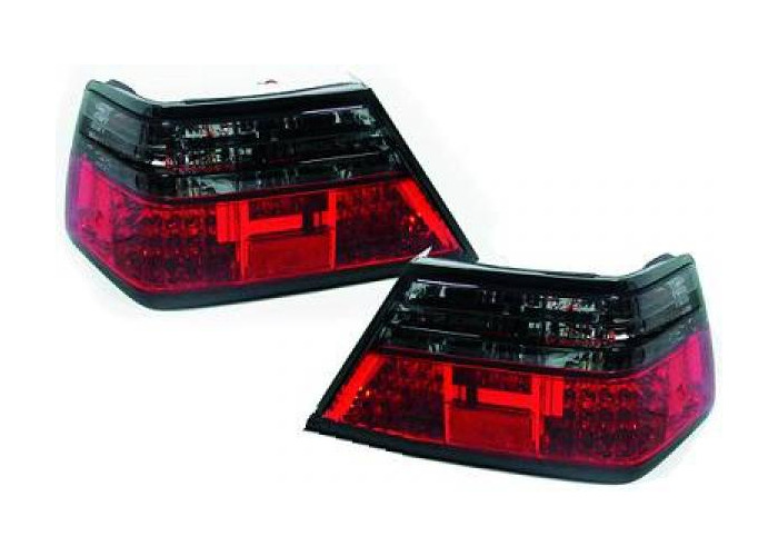 Back Rear Tail Lights Pair Set LED Clear Red Black For Mercedes W124 85-95 - 2